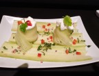 Photo *Carpaccio de concombre et son espuma au chèvre    (Végétarien)  - Ô BISTROT